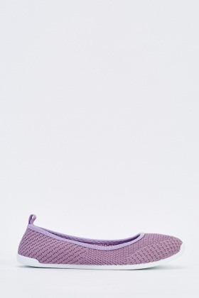 Knitted Slip-On Pumps