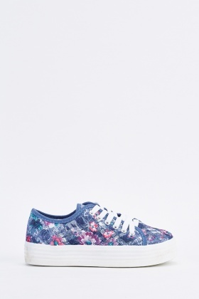 Printed Lace Up Shoes