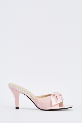 Sateen Knotted Front Mules