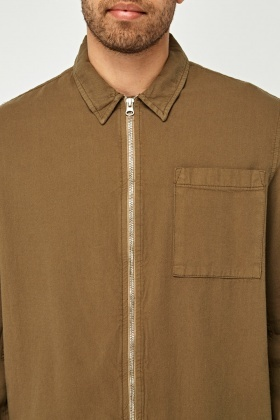 Mens Zipped Over Shirt