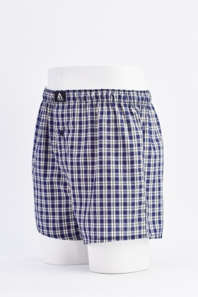 Pack Of 3 Mens Gingham Boxers