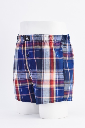 Pack Of 3 Tartan Mens Boxers