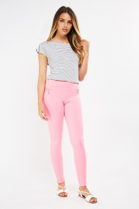 Zipper Front Skinny Fit Treggings