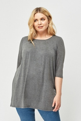 3/4 Sleeve Speckled Top