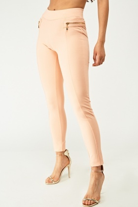 Zipper Side Skinny Treggings