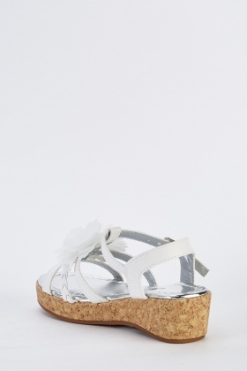 Cut Out Strappy Wedge Sandals