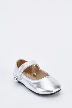 Kids Metallic Ballerina Pumps