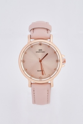 Diamonte Round Face Watch