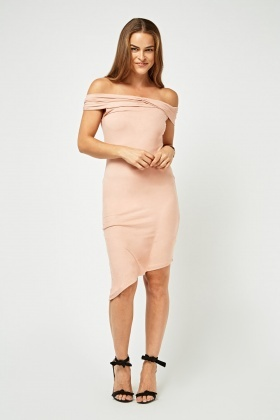 Off Shoulder Suedette Bardot Dress