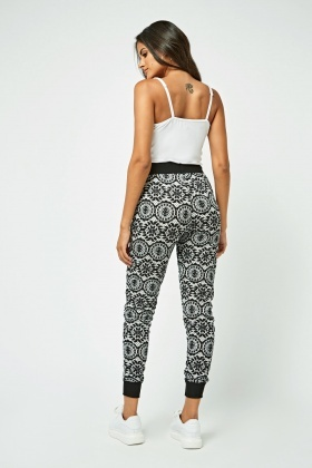 Arabesque Print Tapered Joggers