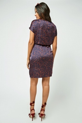 Splatter Paint Print Shift Dress