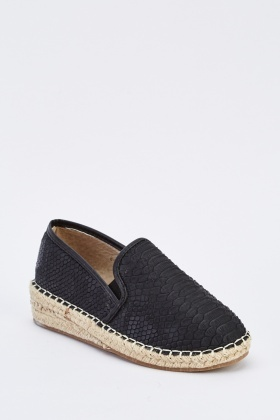 Mock Croc Faux Leather Espadrilles