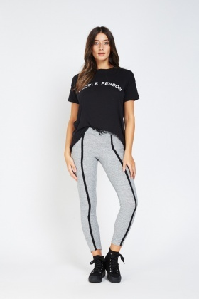 Contrasted Front Speckle Leggings