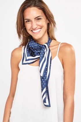 Polka Dot Striped Scarf