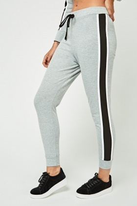 Contrast Side Jogger Pants