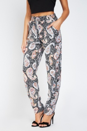 Paisley Print Light Trousers