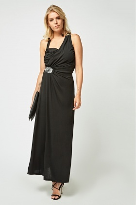 Ruched Detailed Side Maxi Dress