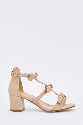 Bow Block Heel Sandals