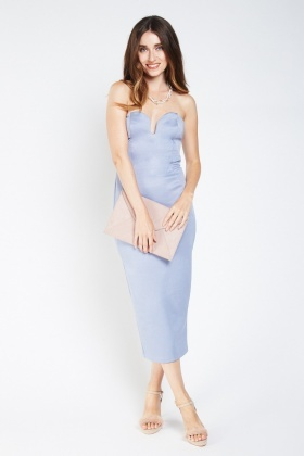 Bandeau Sweetheart Midi Dress