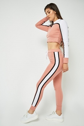 Colour Block Contrast Jogger Pants