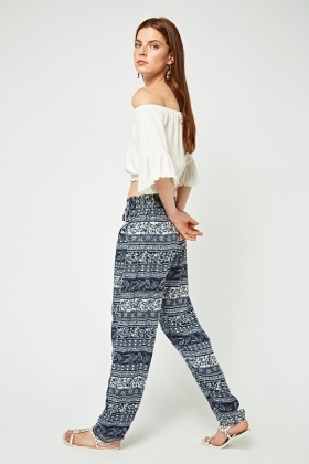 Ethnic Printed Tapered Trousers