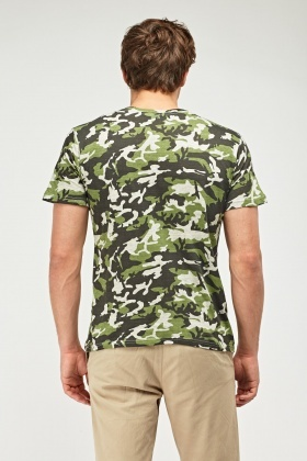Grey Camouflage T-Shirt