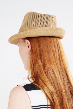 Perforated Weave Fedora Hat