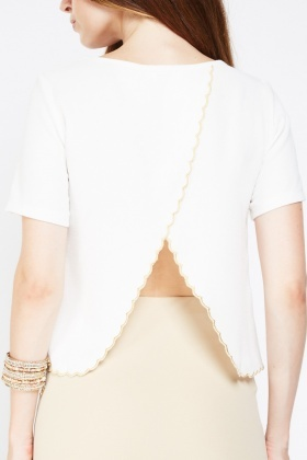Slit Back Detail Scallop Top
