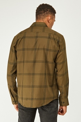 Mens Long Sleeve Tartan Shirt