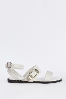 Cut Out Buckle Strap Sandals