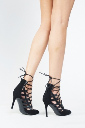 court lace up heels