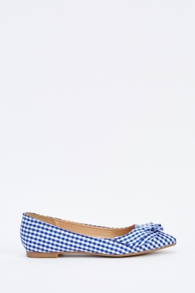 Pointy Toe Gingham Pumps
