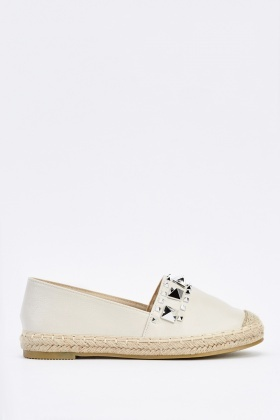 Studded Slip On Espadrilles