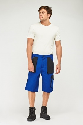 Colour Block Mens Work Shorts