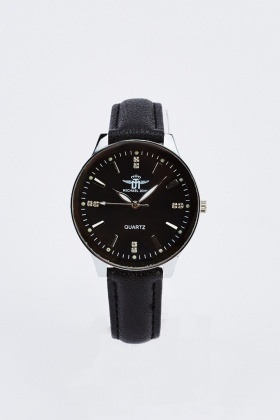 Diamante Face Womens Watch
