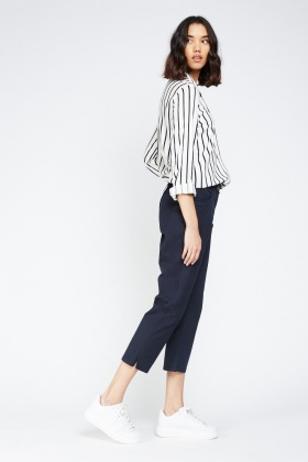 Low Raise Crop Chino Trousers