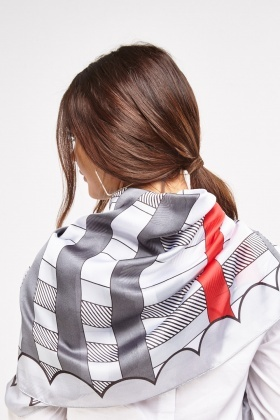 Printed Sheer Scarf