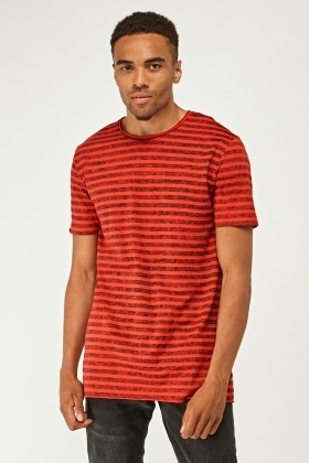 Speckled Striped Long T-Shirt