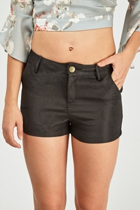Embossed High Rise Shorts