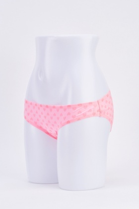 Pack Of 5 Pink Briefs