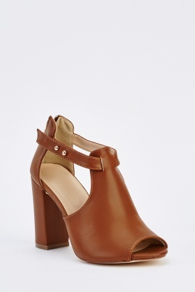 Open Toe Cut Out Side Heels