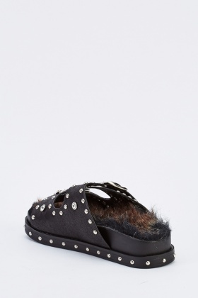 Studded Buckle Strap Sliders