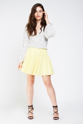 Flared Mini Circular Skirt