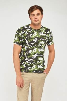 Off White Camouflage T-Shirt