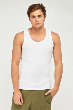Pack Of 3 White Vest Top
