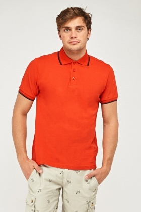 Button Neck Casual Polo