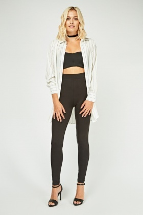 Pack Of 2 Basic Skinny Leggings