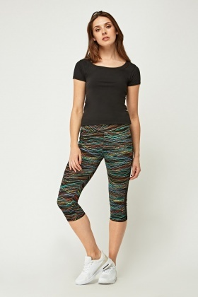 Pack OF 2 Mixed Cropped Sports Leggings
