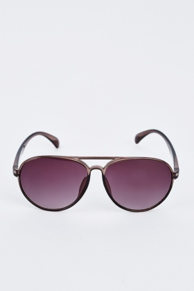 Dark Grey Aviator Sunglasses