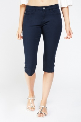 Low Rise Skinny Fit Crop Jeans